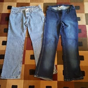 MOTHERHOOD maternity jeans lot of 2